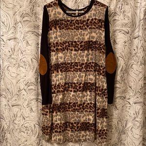 Leopard Print Dress Plus sz 1x